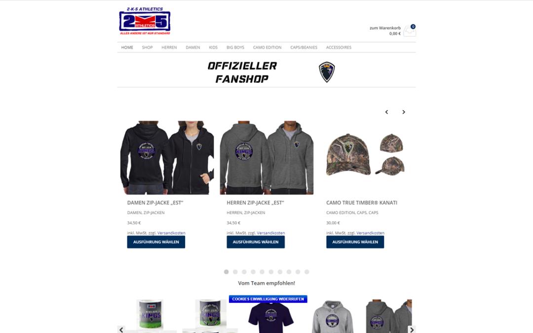 Offizieller Fan-Shop der Kevelaer Kings in neuen Design (in Kooperation mit 2k5)