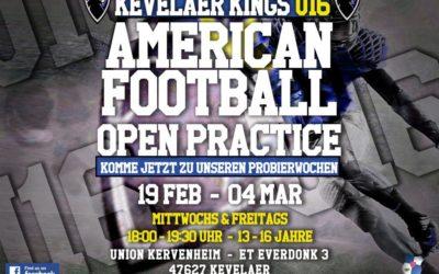 U16 Open Practice Weeks 19.02.-04.03.